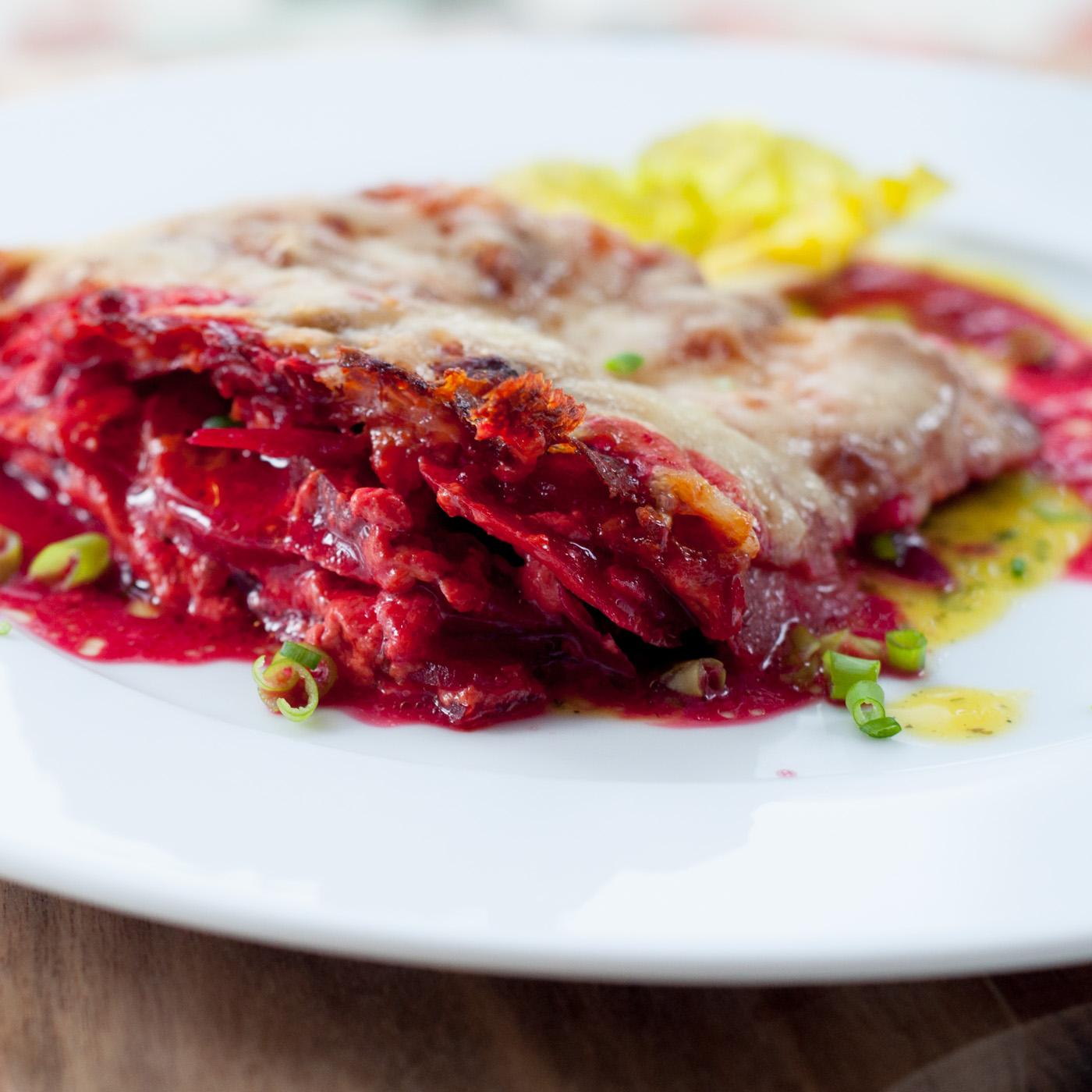 Rote-Beete-Kartoffelgratin